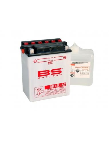 BATTERIE BS  YB14L-A2 12V avec ACIDE  BB14L-A2