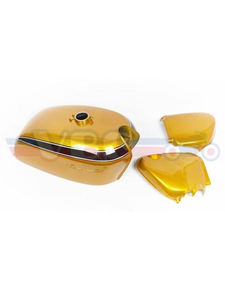Habillage CANDY GOLD complet + accessoires pour CB 750 Four K2
